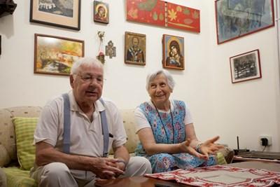 Д-р Боян Христофоров и съпругата му Ан дьо Колбер