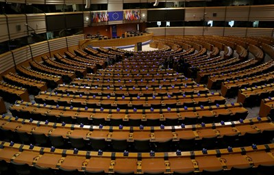 Кадър от Европарламента Снимка: Ройтерс