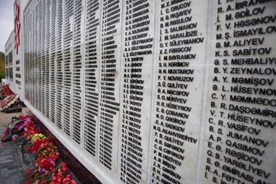 Мемориал в Баку на жертвите и безследно изчезналите азербайджанци