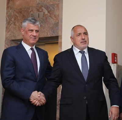 Хашим Тачи и Бойко Борисов  СНИМКИ: Правителствена пресслужба
