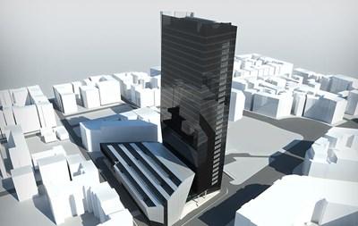 С височината си от 107 метра софийският хотел Marriott ще бъде най-високата сграда в тази част на София и един от най-високите хотели на веригата.