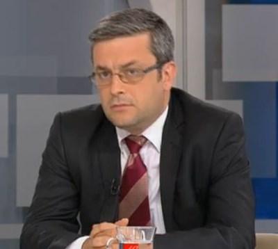 Депутатът от ГЕРБ Тома Биков Кадър: БНТ