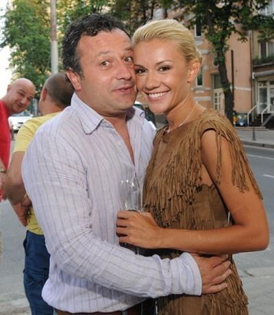 Димитър Рачков и Мария Игнатова по времето, в което бяха заедно.