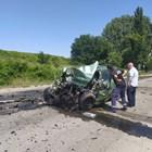 Двама души загинаха при катастрофа между шуменските села Градище и Черенча.  СНИМКА: БИ ТИ ВИ/КРАСИМИР КЪНЧЕВ