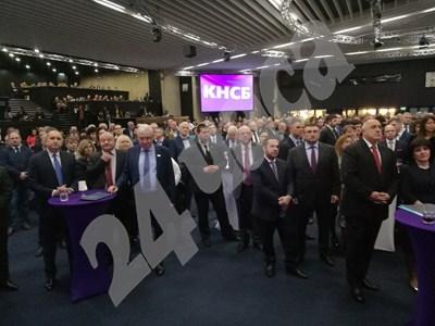 Бойко Борисов и Румен Радев на 30-ата годишнина на КНСБ СНИМКА: Йордан Симеонов СНИМКА: 24 часа