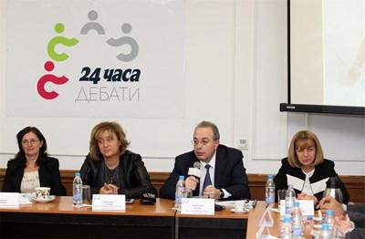 Вицепремиерът Даниела Бобева, издателят Венелина Гочева, зам.-министър Бранимир Ботев и столичният кмет Йорданка Фандъкова СНИМКА: Йордан Симeонов