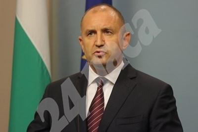 Президентът Румен Радев СНИМКА: Румяна Тонева