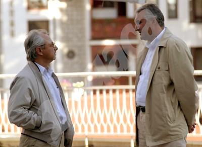 Ахмед Доган и Мехмед Дикме по времето, когато бе министър от ДПС. СНИМКА: 24 часа