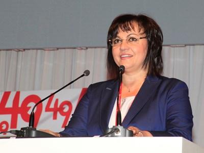 На конгреса на БСП в събота Корнелия Нинова спечели битката срещу вътрешната си опозиция, но си отвори война. СНИМКА: Десислава Кулелиева