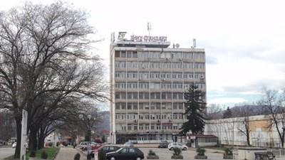 Сградата, откъдето са откраднати машините. СНИМКА: Антоанета Маскръчка