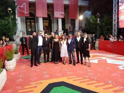 """Екипът на новия филм """"В кръг"""" на фестивала в Сараево  СНИМКА: ФЕЙСБУК"""