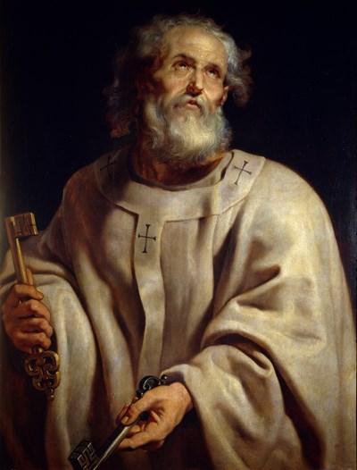 Апостол Петър като римски папа. Маслен портрет от Рубенс, 1610-1612 г.