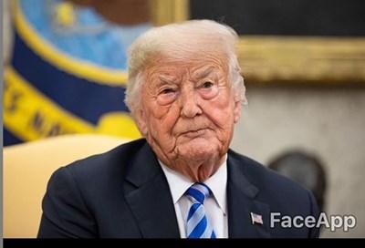 Снимки на Доналд Тръмп след приложението