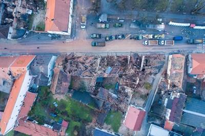 Щети след земетресението в Хърватия СНИМКА: РОЙТЕРС
