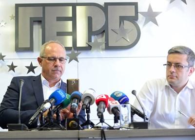 Антон Тодоров и Тома Биков от ГЕРБ пуснаха видео, което доказвало, че Нинова има връзка с организаторите на протеста в Странджа. СНИМКА: Йордан Симeонов