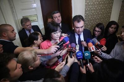 Корнелия Нинова и Жельо Бойчев Снимка: БСП