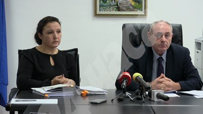 Прокурор Йорданка Чанева и и.д. окръжен прокурор на Добрич Златко Тодоров СНИМКА: Авторката СНИМКА: 24 часа