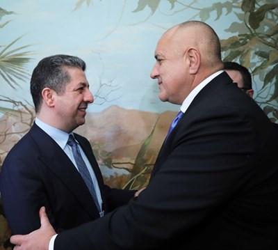 Борисов се срещна с министър-председателя на автономния иракски район Кюрдистан Масрур Барзани в рамките на Мюнхенската конференция . Снимки правителствена пресслужба