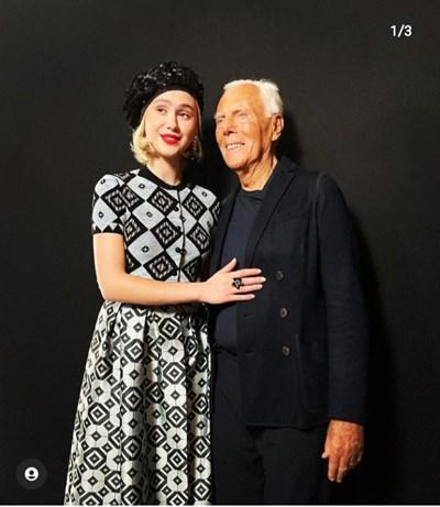 Джорджо Армани публикува снимка с Бакалова в инстаграм профила си. СНИМКA: ОФИЦИАЛЕН ИНСТАГРАМ ПРОФИЛ НА ДЖОРДЖО АРМАНИ