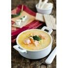 Супа с риба и топено сирене