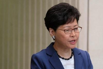 Лидерката на изпълнителната власт на Хонконг Кари Лам  СНИМКА: Ройтерс