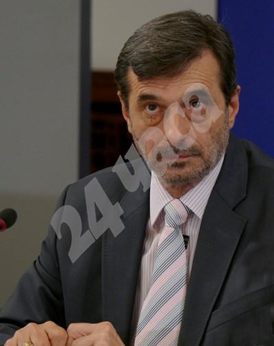 """Президентът на КТ """"Подкпрепа"""" Димитър Манолов"""