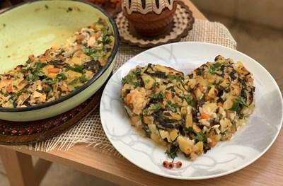 Сърца от картофи, спанак и ориз