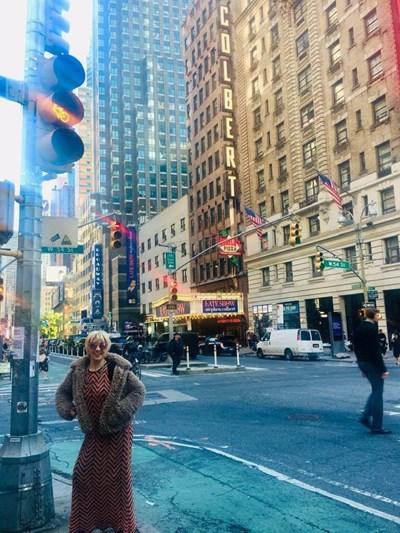"""Българската журналистка Соня Стоянова Александър в Ню Йорк. СНИМКА: """"БГ ВОЙС"""""""