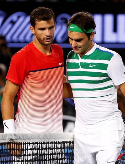 Целта ми в Австралия беше да играя повече мачове, заяви Димитров след мача с Федерер. Снимка РОЙТЕРС