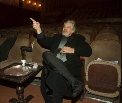 Репетиция на класа на Стефан Данаилов по актьорско майсторство, 2012 г. СНИМКА: Архив