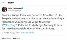 Кубрат Пулев депортиран от САЩ заради проблеми с визата