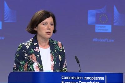 Вицепрезидентката на Еврокомисията с ресор ценности и прозрачност Вера Йоурова.