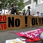 Японци протестират пред олимпийското село