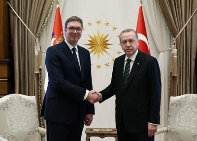 Александър Вучич и Реджеп  Ердоган СНИМКА: Ройтерс