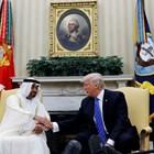 Престолонаследникът на Абу Даби Мохамед бин Зайед с американския президент Доналд Тръмп