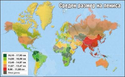 Размер пениса карта