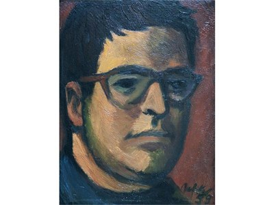 Автопортрет на Иван Кирков, рисуван 1956 г.