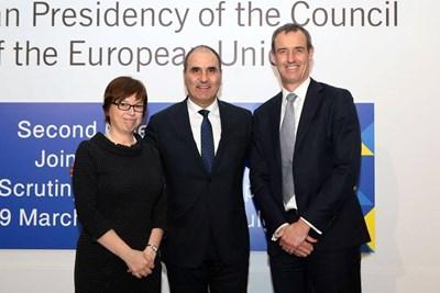 Цветан Цветанов с настоящия директор на Европол Роб Уейнрайт и с бъдещия - Катрин дьо Бол