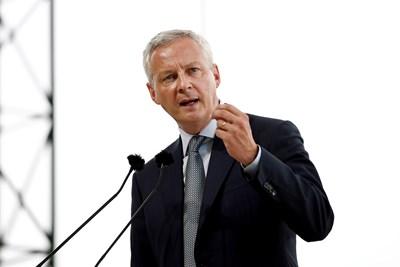 Френският финансов министър Брюно Льо Мер  СНИМКА: Ройтерс
