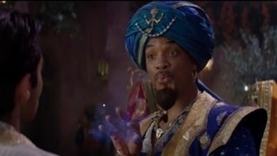"""Уил Смит в ролята на духа във филма """"Аладин"""" Кадър: Youtube/ FilmSelect Trailer"""