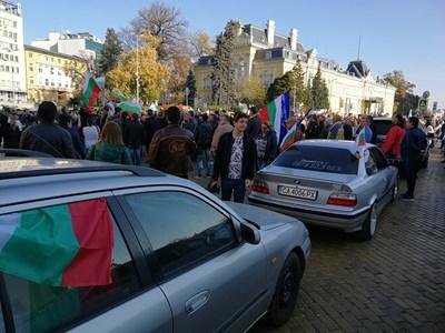 Протестът срещу цените на горивата и данъка за мръсните коли миналата неделя в София.  СНИМКА: ПИЕР ПЕТРОВ