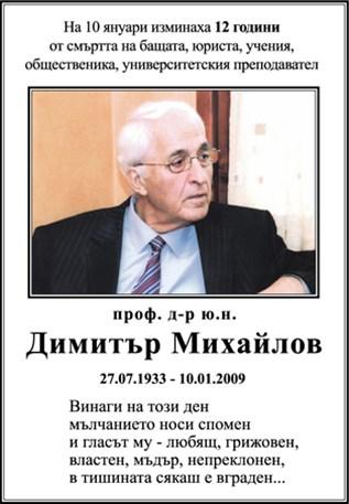 проф. д-р ю.н. Димитър Михайлов