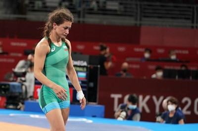Евелина Николова след загубения полуфинал в Токио. СНИМКА: ЛЮБОМИР АСЕНОВ, LAP.BG