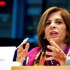 Европейският комисар по здравеопазване Стела Кириакидис говори за епидемията от коронавирус. Снимка: Ройтерс