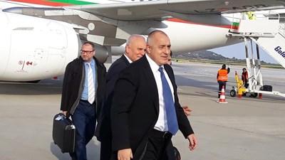 Българският премиер Бойко Борисов кацна в Атина  СНИМКИ: Авторката