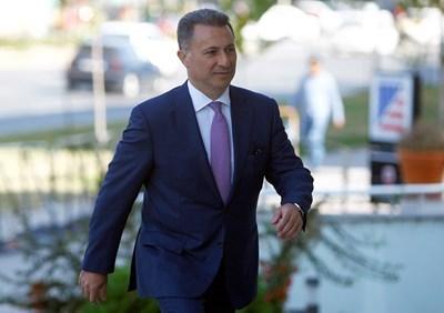 Бившият македонски премиер Никола Груевски СНИМКА: Ройтерс