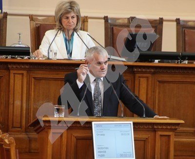 Валентин Радев не е в парламента, БСП поиска да го повикат. Снимка Архив