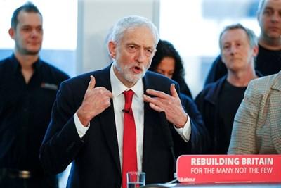 Лидерът на британските лейбъристи Джереми Корбин СНИМКА: Ройтерс