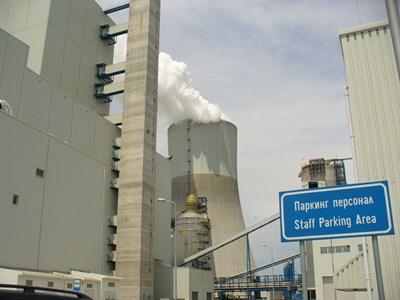За Гълъбово американските инвестиции в енергетиката са структуроопределящи, защото тук се намират централите на AES (на снимката) и на Contour Global, които произвеждат приблизително 12% от тока в България. СНИМКА: Ваньо Стоилов