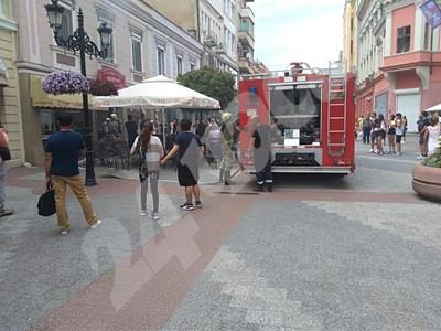 d7c51758d3e Пожар избухна в центъра на Пловдив (Снимки) - 24chasa.bg
